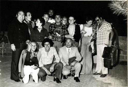 con attori e amici del Piccolo Teatro Pirandelliano